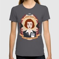 Dana Scully Womens Fitted Tee Asphalt SMALL