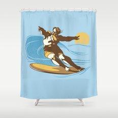 God Surfed Shower Curtain