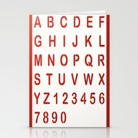 alphabet Stationery Cards featuring Alphabet by Sébastien BOUVIER