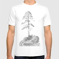 Quilted Forest I  Mens Fitted Tee White SMALL