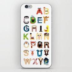 Muppet Alphabet iPhone & iPod Skin