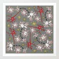 Neuron Nerd Art Print