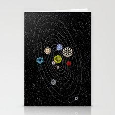 Mandala Solar Sistem Stationery Cards