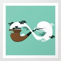 Infinite Pipe Art Print