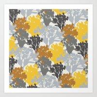Acer Bouquets - Golds & … Art Print