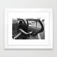 Taxi Cab Confessions Framed Art Print