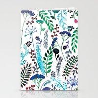 Plant pattern Stationery Cards