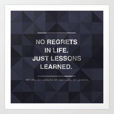 No Regrets 3 Art Print
