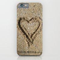 I left my heart on the beach... iPhone 6 Slim Case
