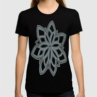 Just Another Flower Womens Fitted Tee Black SMALL