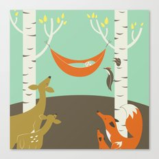 Woodland Baby Canvas Print