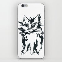 A Threatening Cat iPhone & iPod Skin