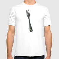 Fork Off Mens Fitted Tee White SMALL