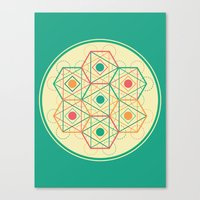 Yey! Shapes!  Canvas Print