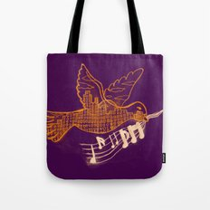 Musical Sunset Tote Bag