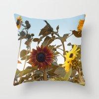 Red Sunflower... Throw Pillow