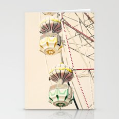 Yellow and Green Ferris wheel on Cream Sky  Stationery Cards