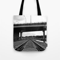 Nalley train tracks Tote Bag