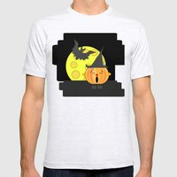 Funny Singing Pumpkin He… Mens Fitted Tee Ash Grey SMALL