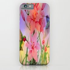 Painterly Hummingbirds And Flowers iPhone 6 Slim Case