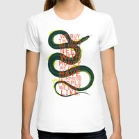 False Behaviour Womens Fitted Tee White SMALL