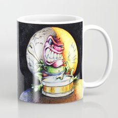 Green Drummer Crazy Mask Mug