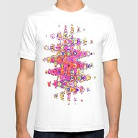 Color Me Happy -- Abstra… Mens Fitted Tee White SMALL