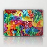 Pattern Red Summer Garde… Laptop & iPad Skin