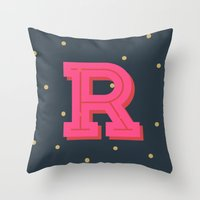 R is for Rad Throw Pillow