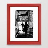 49th Street Station Framed Art Print