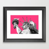 New York Statue Of Liberty Framed Art Print