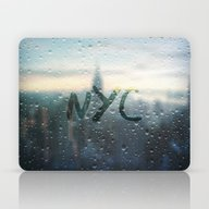 Rainy Day In NYC Laptop & iPad Skin
