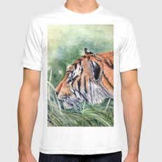 Bengal Tiger Mens Fitted Tee White SMALL