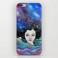 cosmic petals iPhone & iPod Skin
