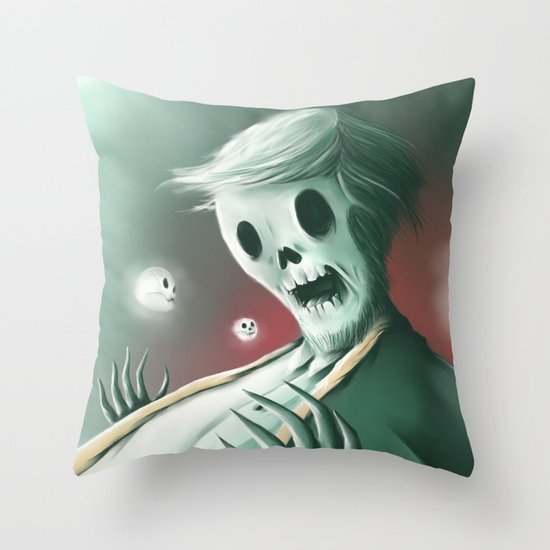 The haunted thoughts Throw Pillow