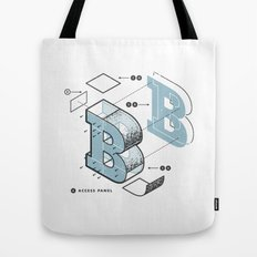 The Exploded Alphabet / B Tote Bag