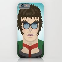 iPhone & iPod Case featuring Liam Gallagher Oasis & Beady Eye by Joe Pugilist Design