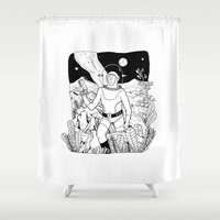 the space cowboy Shower Curtain