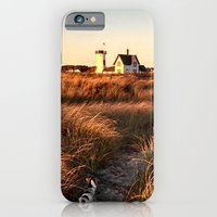 iPhone Cases featuring Hardings Beach Light House by Vermont Greetings