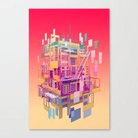 Building Clouds Canvas Print