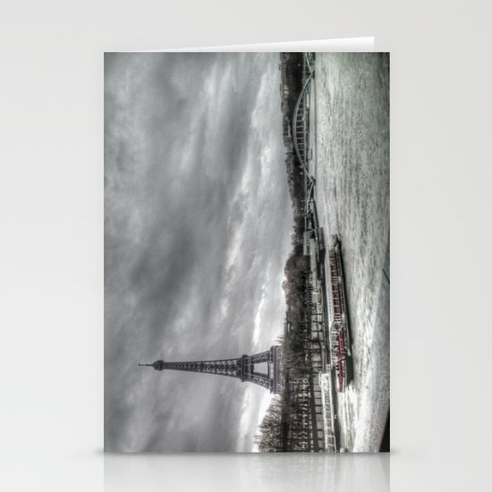 The Eiffel Tower and the Seine - Paris cityscape - hdr Stationery Card