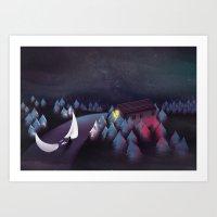 Gravity (Moon In The Riv… Art Print