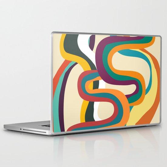 Groovy rainbow of doom Laptop & iPad Skin