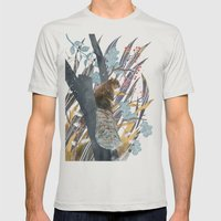 waiting for autumn Mens Fitted Tee Silver SMALL
