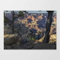 The Grand Canyon and Trees. Canvas Print