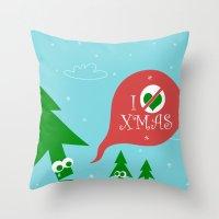 Greestmas. Save Xmas Trees Throw Pillow