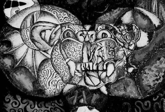 broken gargoyle Canvas Print