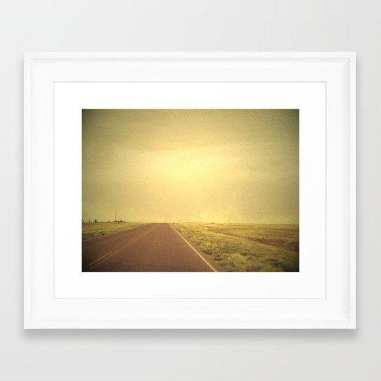 Lonely road 1 Framed Art Print