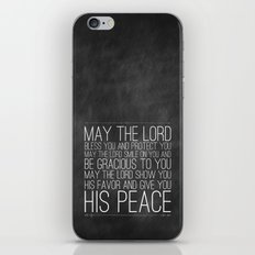 Numbers 6:24-26 The Blessing iPhone & iPod Skin