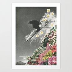 Spring Skiing Art Print